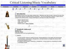Critical Listening: Music Vocabulary Lesson Plan