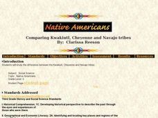Comparing Kwakiutl, Cheyenne and Navajo tribes Lesson Plan
