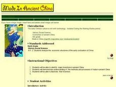 Made IN Ancient China Lesson Plan