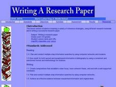 Writing a Research Paper Lesson Plan