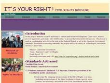 It's Your Right: A Civil Rights Brochure Lesson Plan