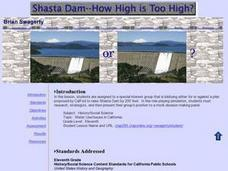 Shasta Dam: How High is Too High? Lesson Plan