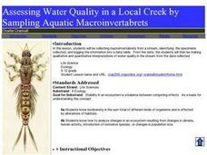 Assessing Water Quality in a Local Creek by Sampling Aquatic Macroinvertabrets Lesson Plan