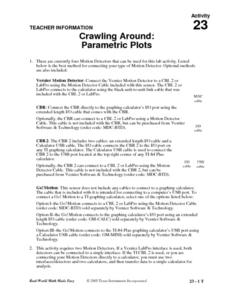 Crawling Around: Parametric Plots Lesson Plan