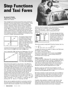 Step Functions and Taxi Fares Lesson Plan