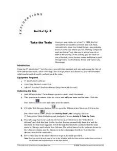 Take the Train Lesson Plan