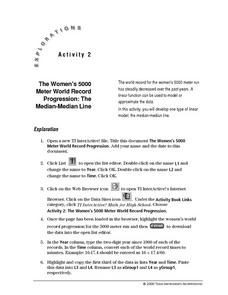 The Women's 5000 Meter World Record Progression:  The Median-Median Line Lesson Plan
