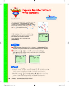 Exploring Transformations with Matrices Lesson Plan