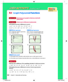 Graph Polynomial Functions Lesson Plan