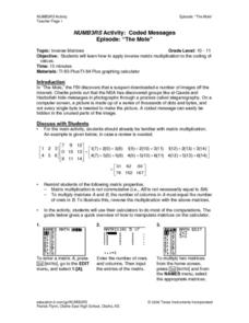 NUMB3RS Activity: Coded Messages Lesson Plan