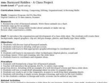 Barnyard Riddles - A Class Project Lesson Plan