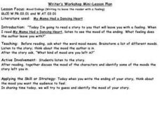 Writer's Workshop:  Mood Endings Lesson Plan