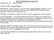 Writer's Workshop Mini-Lesson Plan Lesson Plan