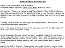Writer¿¿ Workshop Mini-Lesson Plan Lesson Plan