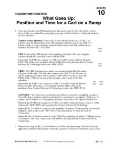 Position and Time for a Cart on a Ramp Lesson Plan