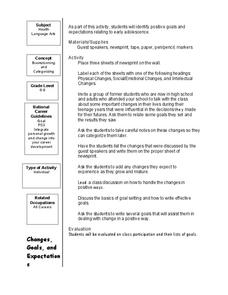 Changes, Goals, and Expectations Lesson Plan