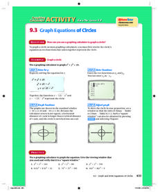 Graph Equations of Circles Lesson Plan