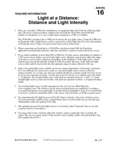 Light at a Distance: Distance and Light Intensity Lesson Plan