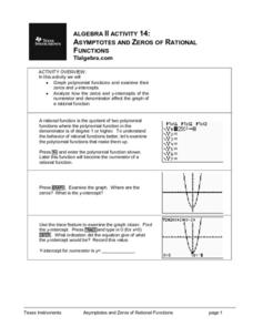 Asymptotes And Zeros of Rational Functions Lesson Plan