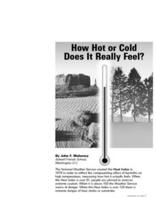How Hot or Cold Does It REallu Feel Lesson Plan