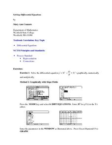 Solving Differential Equations Lesson Plan