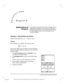 Applications of Integrals Lesson Plan