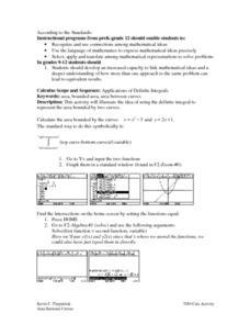 Application of Definite Integrals Lesson Plan