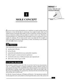 Mole Concept Lesson Plans & Worksheets Reviewed by Teachers