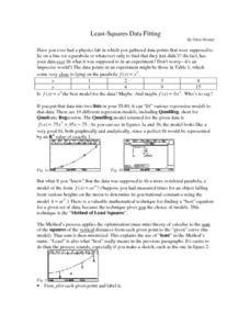 Least-Squares Data Fitting Lesson Plan