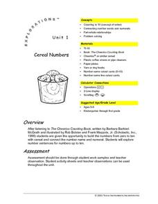 Cereal with Numbers Lesson Plan