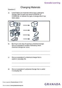 Changing Materials Lesson Plan