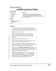 a-MAZE-ing Secret Paths Lesson Plan