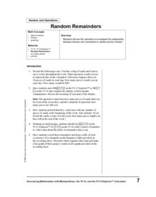 Random Remainders Lesson Plan