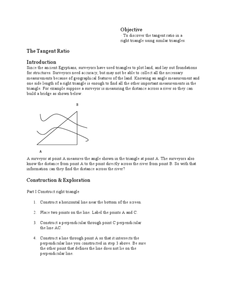 The Tangent Ratio Lesson Plan