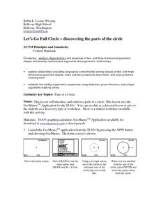 Let's Go Full Circle - Discovering th Parts of the Circle Lesson Plan