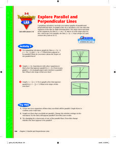 Explore Parallel and Perpendicular Lines Lesson Plan