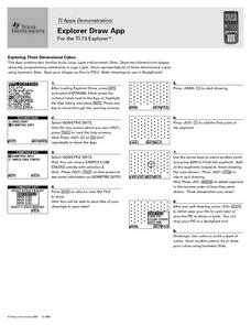 Explorer Draw App for the TI-73 Explorer Lesson Plan