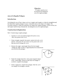 Area of a Regular Polygon Lesson Plan