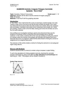 NUMB3RS Activity:  Irregular Ploygon Centroids Lesson Plan