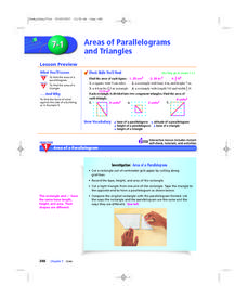 Areas of Parallelograms and Triangles Lesson Plan