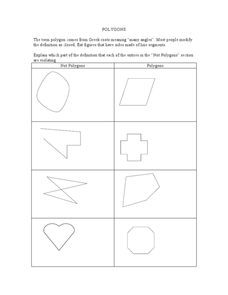 Polygons Lesson Plan