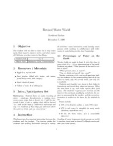 Water World Lesson Plan