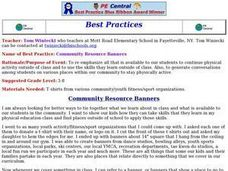 Community Resource Banners Lesson Plan