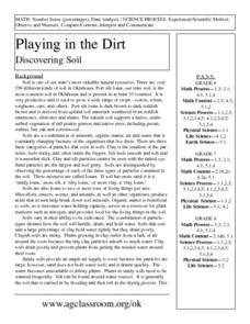 Playing In The Dirt - Discovering Soil Lesson Plan