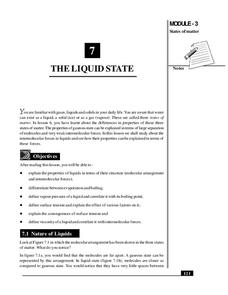 The Liquid State Handouts & Reference