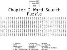 Chapter 2 Word Search Puzzle Worksheet