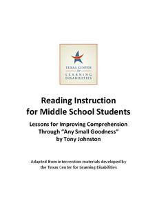 Chapter 6 Teacher Guide and Student Log Lesson Plan