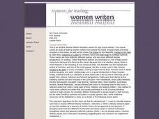 Resources for Teaching Women Writers Lesson Plan