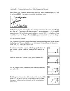 President Garfield's Proof of the Pythagorean Theorem Lesson Plan