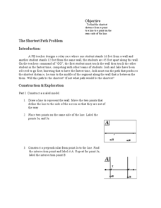 The Shortest Path Problem Lesson Plan